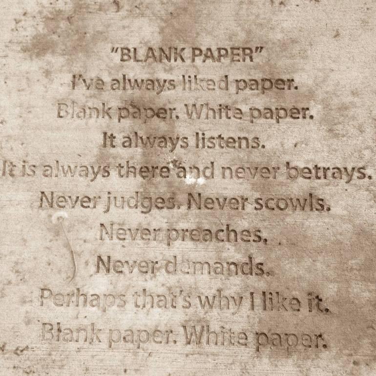 blank paper american poet