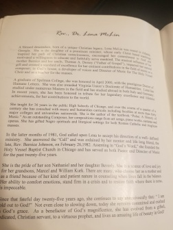 About Rev. Dr. Lena McLin from Angie Mack Reilly Collection