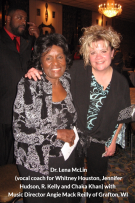 Dr. Lena McLin with Angie Mack Reilly