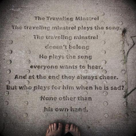 The Traveling Minstrel poem by Angie Mack Reilly